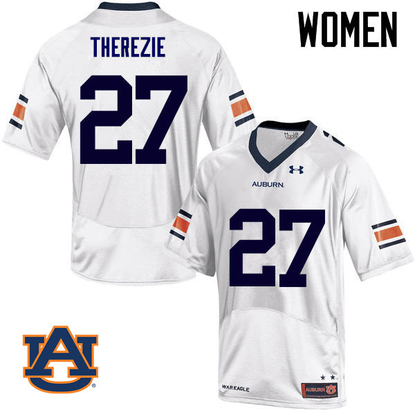 Women Auburn Tigers #27 Robenson Therezie College Football Jerseys Sale-White